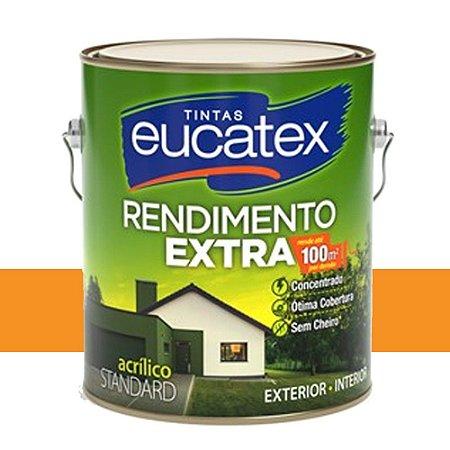 Tinta Acrílico Rendimento Extra Cenoura 3,6l Eucatex