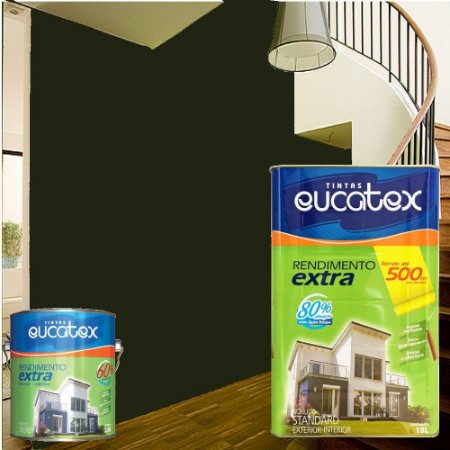 TINTA EUCATEX ACRILICO REND EXTRA C: PRETO - 3,6 LTS