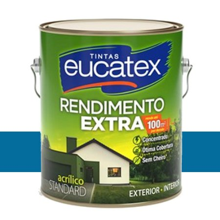 Tinta Acrílico Rendimento Extra Oceano 3,6l Eucatex