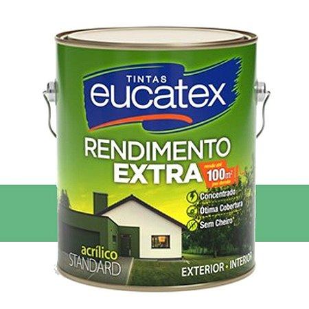 Tinta Acrílico Rendimento Extra Verde Angra 18 Lts Eucatex