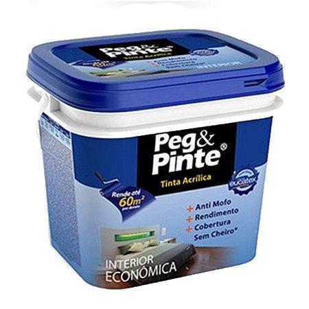 Tinta Acrílica Eucatex Peg & Pinte 3,6 Litros Branco