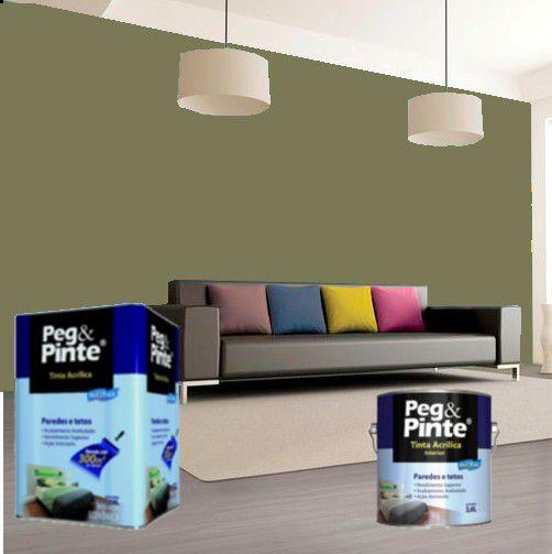 Tinta Acrílica Eucatex Peg & Pinte 3,6 Litros Concreto