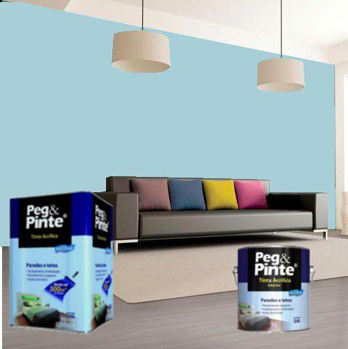 Tinta Acrílica Eucatex Peg & Pinte 18 Litros Azul Céu