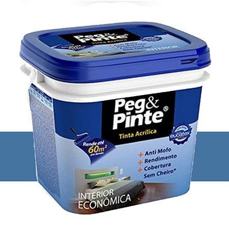 Tinta Acrílica Eucatex Peg & Pinte 18 Litros Azul Profundo