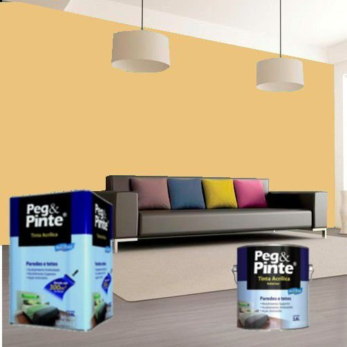 Tinta Acrílica Eucatex Peg & Pinte 18 Litros Cromo Suave