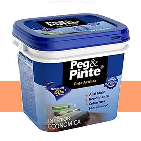 Tinta Acrílica Eucatex Peg&pinte 3,6 Litros Laranja Citríco