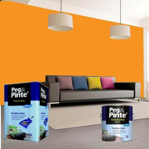 Tinta Acrílica Eucatex Peg & Pinte 3,6 Litros Cenoura