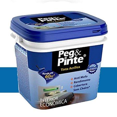 Tinta Acrílica Eucatex Peg & Pinte 3,6 Litros Azul Navegante