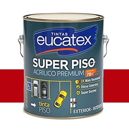 Tinta Piso Acrílico Premium Eucatex 3,6 L Vermelho Segurança