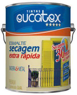 TINTA EUCATEX ESM BRI SEC EX RAPIDO COR: CINZ ESCURO - 0,9L