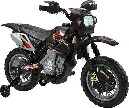 Moto Elétrica Infantil Com Farol E Buzina Preta/verde 925900