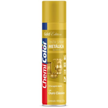 TINTA SPRAY CHEMICOLOR 400 ML U.G - METALICA OURO CLASSICO