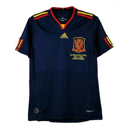 Camisa Espanha Retrô Final Copa do Mundo 2010 - Masculina