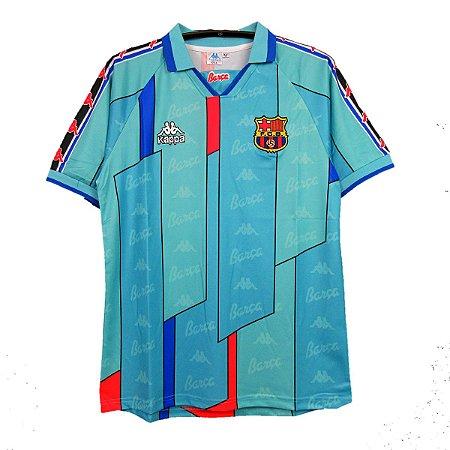Camisa Barcelona Retro 1996 97 Masculina Futmais Store Produtos Esportivos Importados