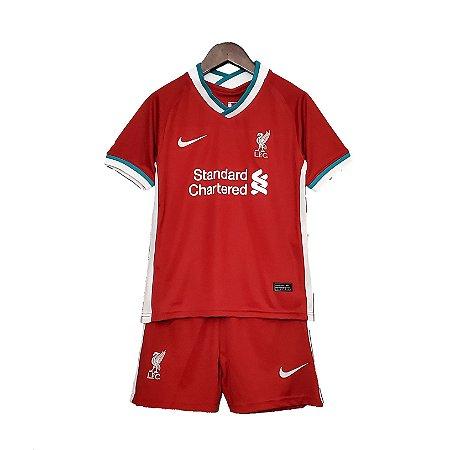 Conjunto Infantil Liverpool I 2020/21 – Masculino