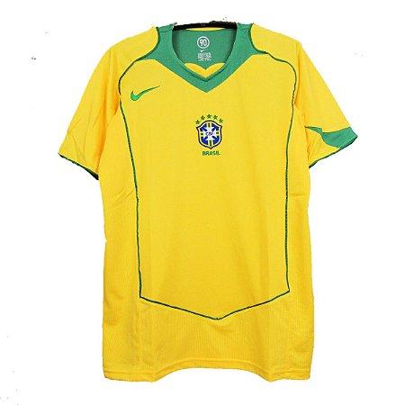 Camisa Brasil Retrô 2004 - Masculina