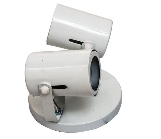 Spot Tubo Branco para 2 Dicróicas GU10 ARS Iluminação