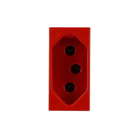 Tomada 2P+T 20 Amperes Vermelha Pial Plus 615079