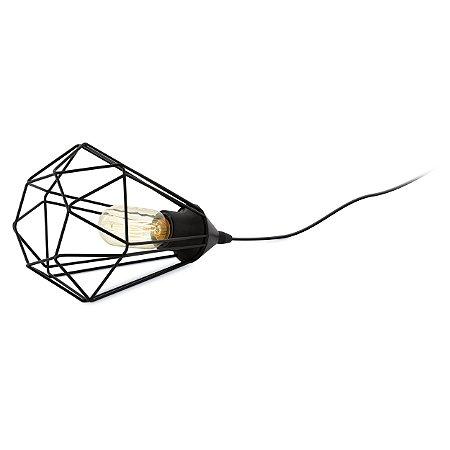 Luminaria de Mesa em Aço Preto Tarbes 94192V