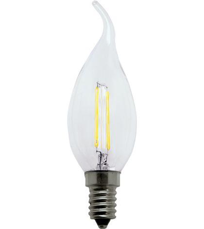 Lâmpada Vela Chama Filamento 2W 127V