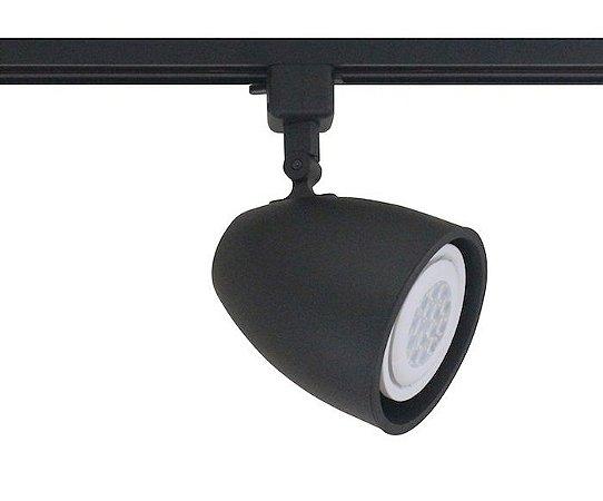 Spot para Trilho Eletrificado DUO PAR-30 E-27 Preto Fosco