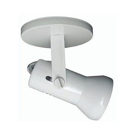 Spot Baulado para 1 Lâmpada E27 Branco SP1800-1
