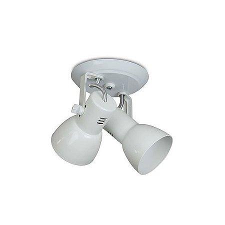 Spot Cone para 2 Lâmpadas E27 Branco SP1900-2