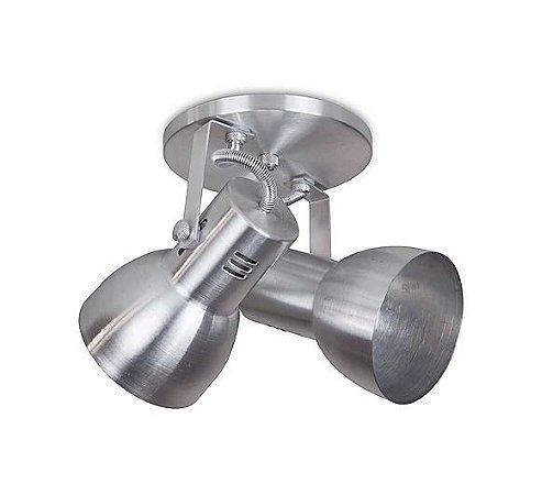 Spot Cone para 2 Lâmpadas E27 Lixado SP1915-2