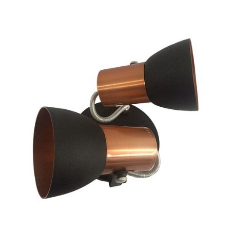 Spot Cone para 2 Lâmpadas E27 Preto e Cobre SP1940-2