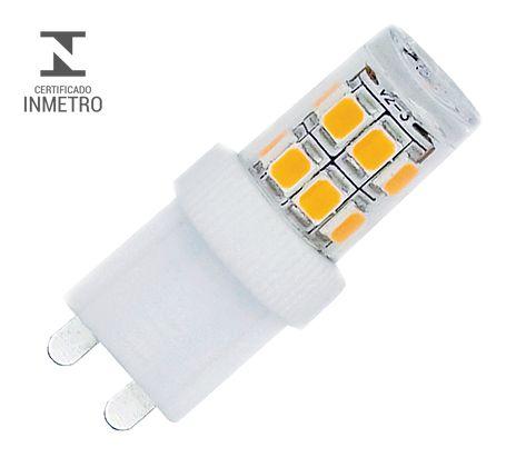 Lâmpada de Led Halopin G9 3W 3000k 110V Luminatti LM177