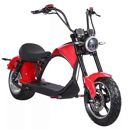 Moto Elétrica Scooter que parece Harley Davidson 1500W Vermelha