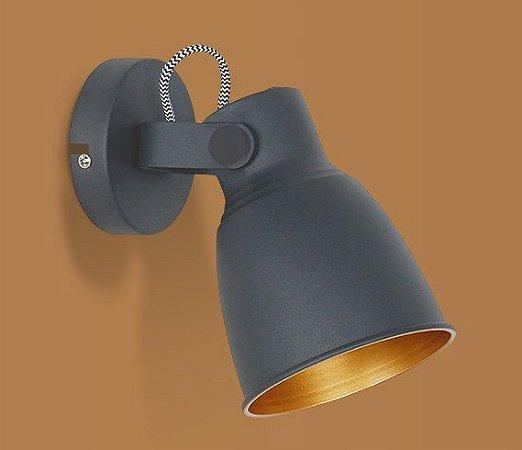 Arandela Pixar Preto Opus DN 37516