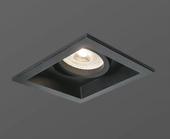 Spot Face Recuada Aluminio PAR20 Preto Opus HM 38933