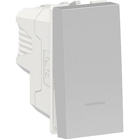 Interruptor Bipolar Intermediario 10A 250V Aluminium Schneider Orion S70110574