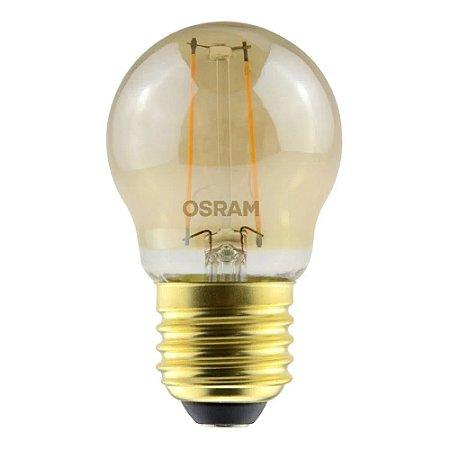 Lâmpada de Led Bolinha Vintage 2.5W Luz Amarela Bivolt Osram