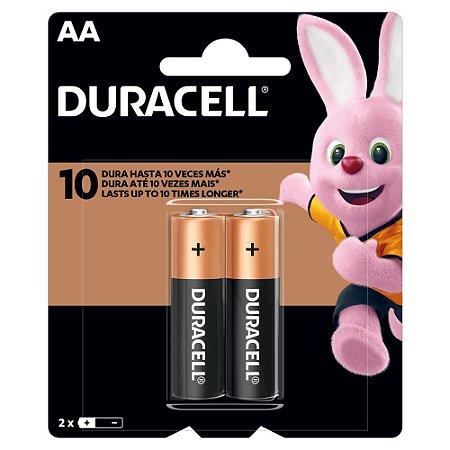 Pilha AA Alcalina Duracell com 2 unidades