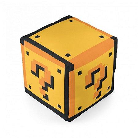Almofada Cubo Question Block Mário