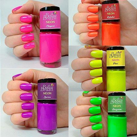 Coleção Neon Bella Brasil - 5 Cores