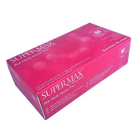 Luva Nitrílica Rosa - Supermax