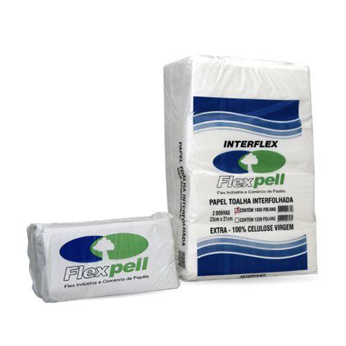 Papel Toalha Interfolha 20x21 - Extra Branco 100% Celulose - FlexPell