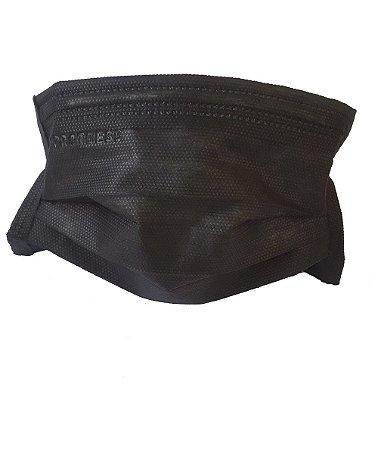 Mascara tripla com elástico - Preta - pct com 50 - Protdesc