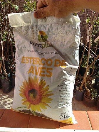 Adubo Esterco Aves 100% Natural Vitaplan - 2 Kg