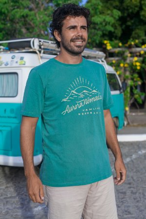 Camiseta Aurora Nômade Verde
