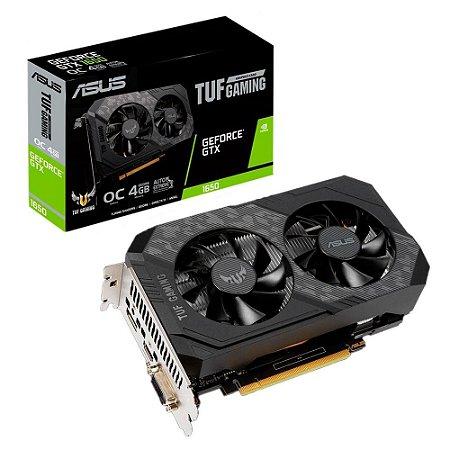PLACA DE VÍDEO ASUS NVIDIA GEFORCE GTX 1650, 4GB, GDDR6 - TUF-GTX1650-O4GD6-P-GAMING