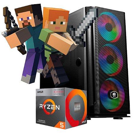 COMPUTADOR GAMER OBSIDIAN, RYZEN 5 3400G, 16GB DDR4, SSD 240GB, 500W