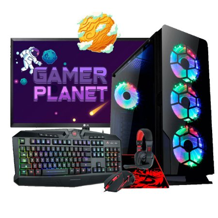 COMBO COMPUTADOR GAMER COMPLETO LEVEL 3, I5-9400F 2.9GHZ 9MB, RX 570 4GB, 8GB DDR4, SSD 480GB