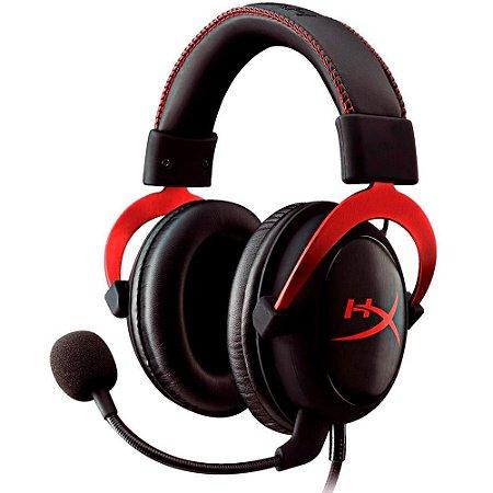 HEADSET GAMER HYPERX CLOUD II 7.1 - KHX-HSCP-RD - PRETO/VERMELHO