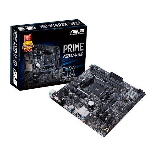 PLACA MÃE ASUS PRIME A320M-K/BR, AMD AM4, MATX, DDR4