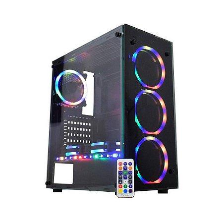 GABINETE GAMER KMEX RGB CG-XXN9