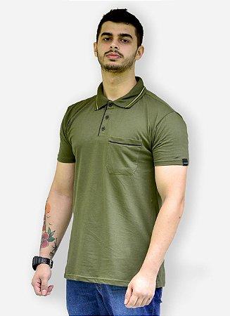 Camisa Polo  Verde Musgo Fortman
